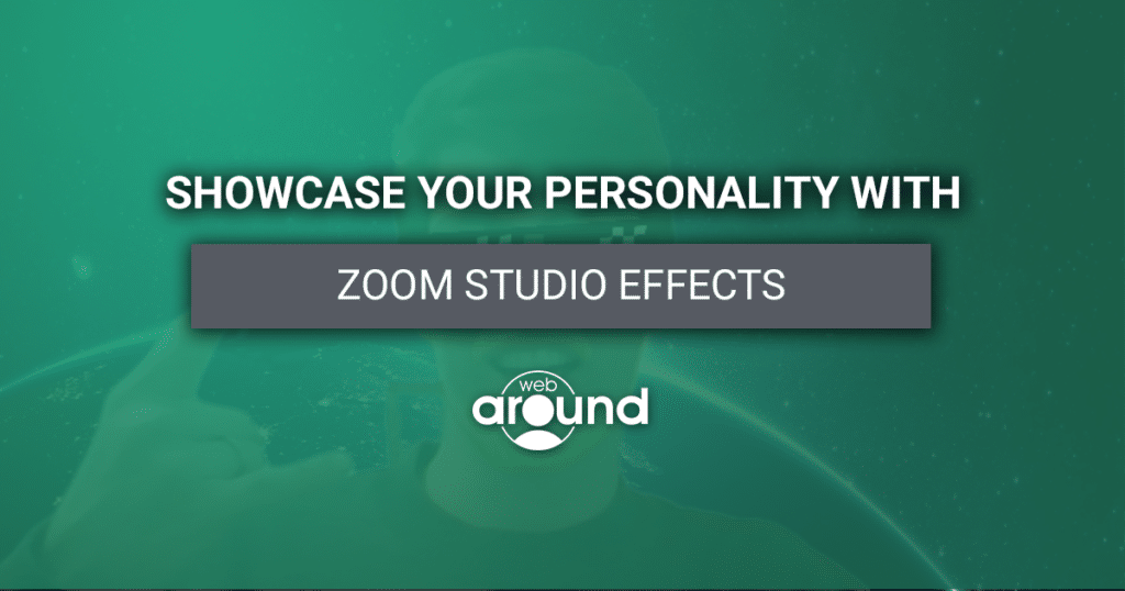 """Title Image saying """"Showcase Your Personality"""" """"Zoom Studio Effects"""""""