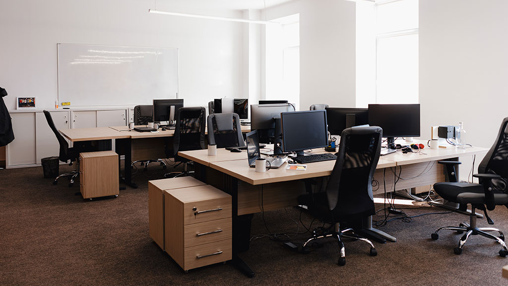 Empty pandemic office space